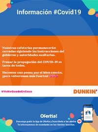 Información Dunkin Coffee #Covid19