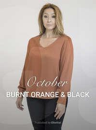 Burn orange & black
