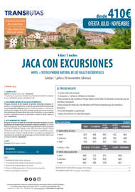 Jaca con excursiones