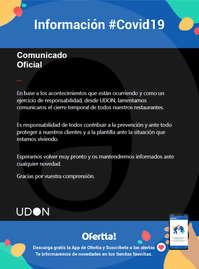 Información UDON #Covid19