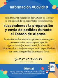 Información Joyería Serrano #Covid19