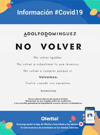 Información Adolfo Domínguez #covid19
