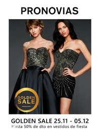 Golden Sale. Hasta 50% en vestidos de fiesta