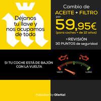 Cambio de aceite + filtro por 59,95€