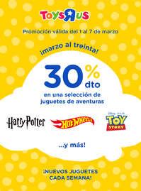 30% dto en una selección de juguetes de aventuras