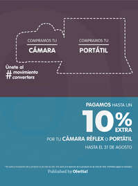 Pagamos hasta un 10% extra por tu cámara réflex o portátil