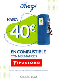 Hasta 40€ en combustible con neumáticos Firestone