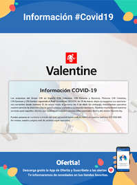 Información Valentine #Covid19