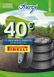 Hasta 40€ de descuento directo en neumáticos
