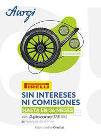 Pirelli sin intereses ni comisiones