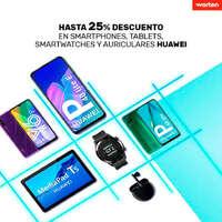 Hasta 25% en smartphones, tablets y auriculares Huawei