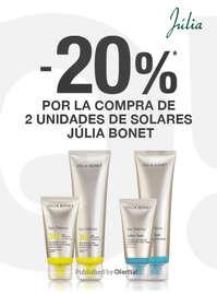 -20%* por la compra de solares Júlia Bonet ☀️