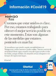 Información Mango Kids #Covid19