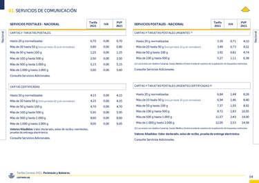 Tarifas 2021 Península y Baleares- Page 1