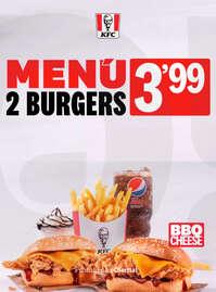 Menú 2 burgers por 3,99€